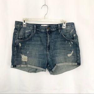 WildFox Liv Boyfriend Denim Shorts Distressed 29